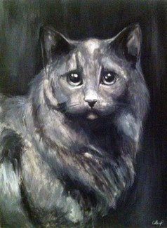 "Gracie 18""x24"" Acrylic on canvas"