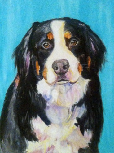 "Callie 18""x24"" Acrylic on canvas"