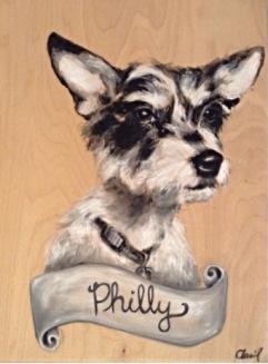"Philly 18""x24"" Acrylic on panel"